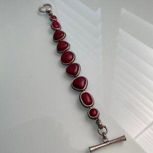 Lucky Brand | Metal Bracelet w/ Red Stones